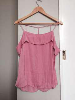 Glassons pink off the shoulder top