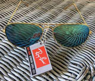 Unisex blue & gold sunglasses