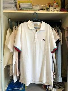 Burberry White Polo