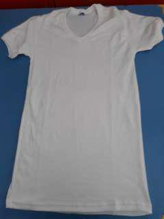 oblong putih v neck