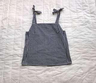 Gingham checkered top