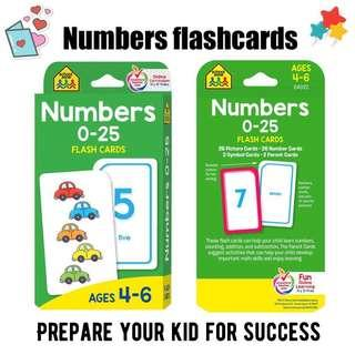 🚚 Numbers flashcards