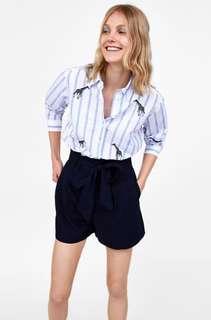 🆕 Zara Paperbag waist bermuda shorts #under90