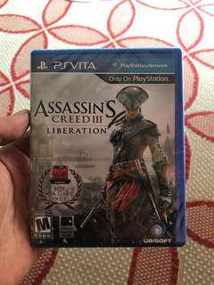 (NEW) Assansins Creed 3 Ps Vita