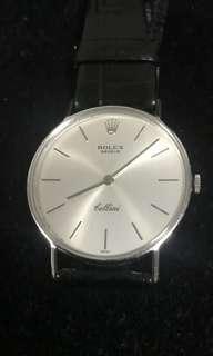 Rolex white gold Cellini man watch