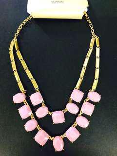 Necklace women's statement chain 頸鍊 項鍊 粉紅色 寶石 金鍊 pink gemstone jewellery
