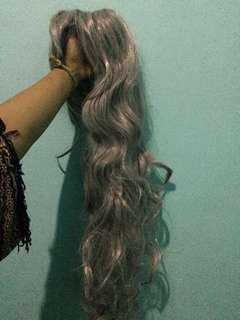 Wig Grey Curly