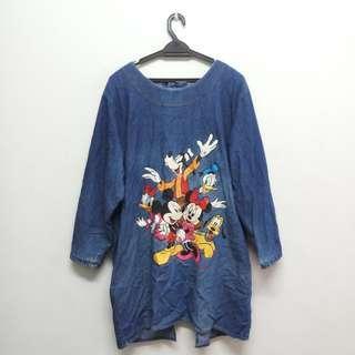 Vintage Disney Long Blouse Denim