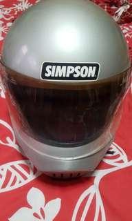 Vtg Simpson helmet.