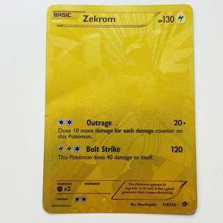 Secret rare Zekrom Gold