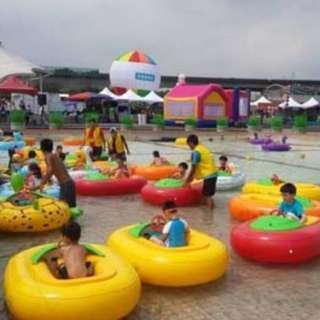 6 Bumper Boats (Normal Bumper Tube) & Water enclosure for Sale : Amusement Ride