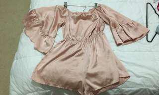 Blush pink playsuit
