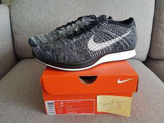 Below retail Brand New 100% Authentic Nike Flyknit Racer US10/UK9 Oreo