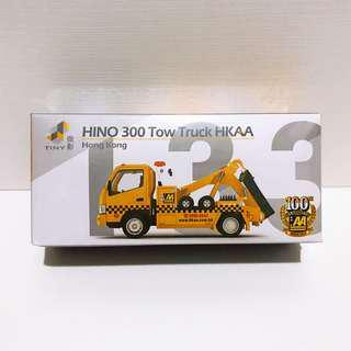 全新未拆 Tiny 微影 香港汽車會 HKAA 100週年紀念 #133 日野 Hino 300 拖車