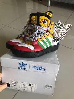 NEW! Limited edition Adidas Jeremy Scott wings 2.0 Indian colorful style sneakers shoes