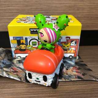 BNIB Tokidoki Figurines Sandy Sushi Car