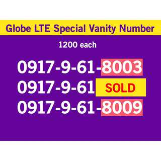 Globe Sim 0917 Classic Series Special phone mobile Number