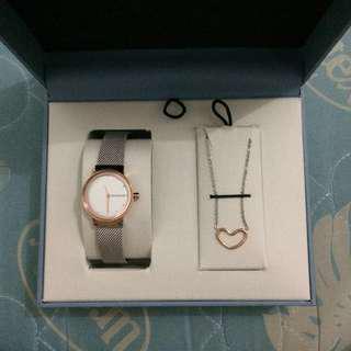 Skagen Watch and Necklace