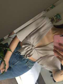 Beautiful taupe tie top