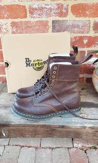 Free Post - Brand New Dr. Marten Brown Boots - 10US Men's