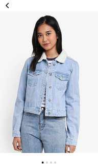 bnwt rtp 50$ authentic factorie fur denim jacket