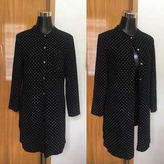 Polka Dress / Cardigan