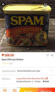 Spam 25% less sodium