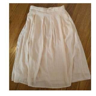 Lamo.3 粉橘條紋及膝裙