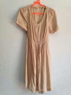 (Preloved) Dress Wanita Katun Lengan Pendek Casual