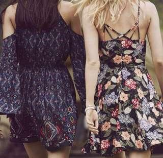 abercrombie and fitch high neck floral dress