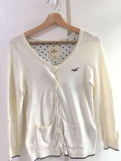 Hollister cardigan 白色針織外套