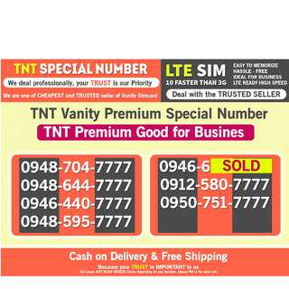 TNT PROMO For Business good Number other Globe Smart  Lucky 7777