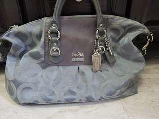 Authentic Coach Grey with silver accent EUC purse / handbag