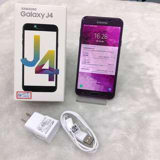 Samsung J4 99%new warranty a year with original charge