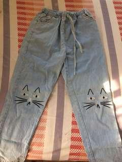 🐱DENIM CAT PANTS 🐱