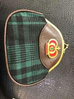 皇冠綠格零錢包