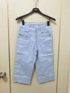 🚚 全新七分褲 藍/粉