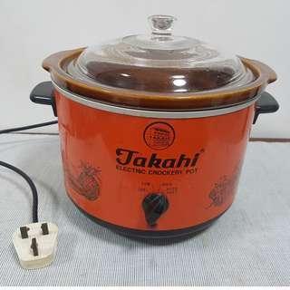 Takahi Electric Crockery Pot Slow Cooker 3.8L
