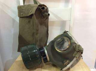 Vintage Hungarian Army M76 gas mask