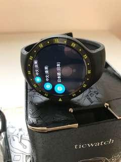 """98%New Ticwatch S Smartwatch 1.4"""" OLED Android Wear 2.0 Knight Black"""