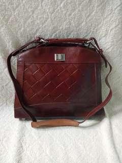 Mashad genuine leather women bag tas wanita kulit asli branded vintage high quality