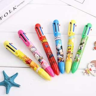 Disney characters6 colours multi-coloured ballpoint pen @ $0.80 per pc or $0.60 each for 50pcs n above!