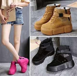 PO Platform Side Zip Hidden Heels Boots