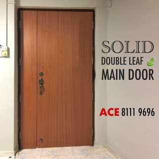 Solid main door for main entrance 4 x 7ft
