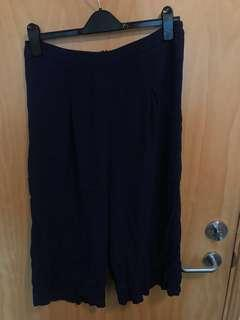 Glassons black culottes uk/au12