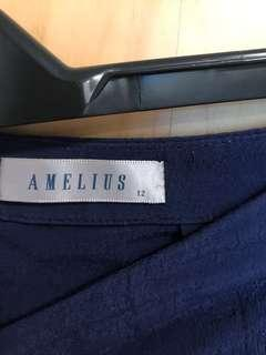 Blue culottes uk/au12