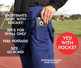 SPORTPANTS SKIRT WITH POCKET! HOT SELLING - XXXXL SIZE AVAILABLE