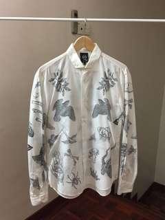 RM2500 Alexander McQueen MCQUEEN Tattoo Print Shirt Gucci