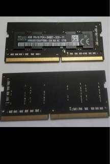 SK hynix 4GB PC4 DDR4 2400T 1Rx16 Notebook Laptop Ram