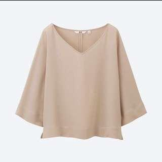 Uniqlo Drape 3/4 Sleeve Blouse